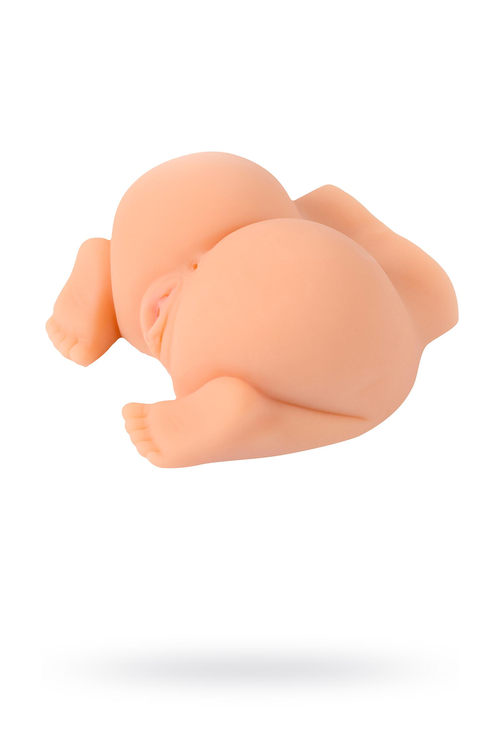 Мастурбатор реалистичный вагина+анус, XISE , TPR, телесный, 22 см