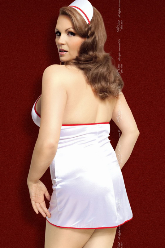 Julie - Костюм медсестры белый-XXXL