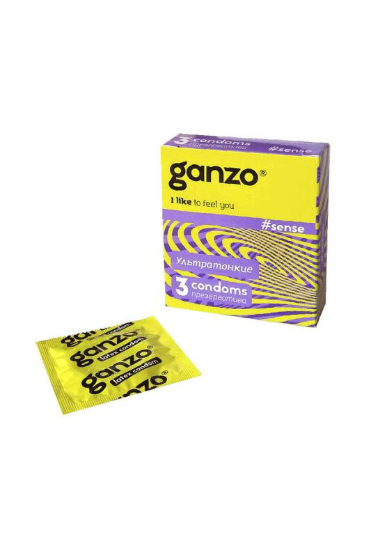 Презервативы Ganzo Sense № 3    Ультратонкие -    ШТ