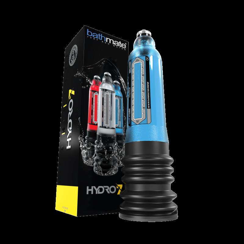 Гидропомпа Bathmate HYDRO7, ABS пластик, голубая, 30 см (аналог Hercules)