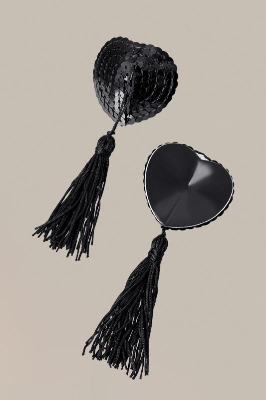 Пэстис Waname Apparel Hearts with tassels в форме сердец с кисточками черные