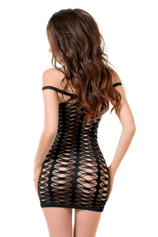 Платье-сетка Joli Ruby, черный, L/XL