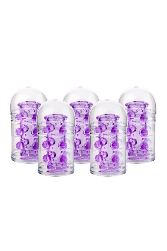 Набор насадок 5 шт TOYFA, TPE, фиолетовый, 7 см