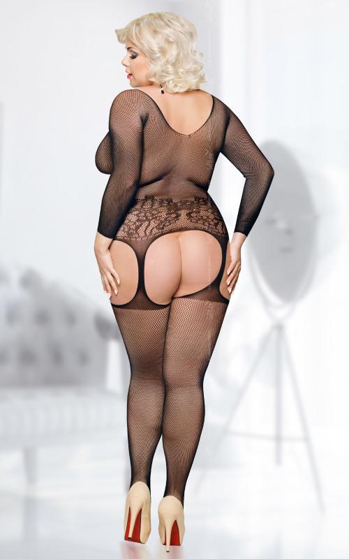 Костюм-сетка SoftLine Collection Ladybird, черный-XL/XXXL