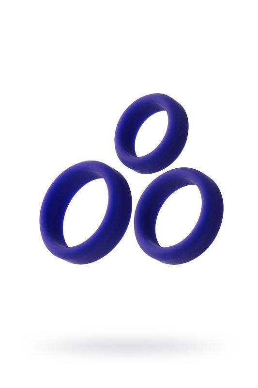 Набор эрекционных колец TOYFA A-Toys, фиолетовый