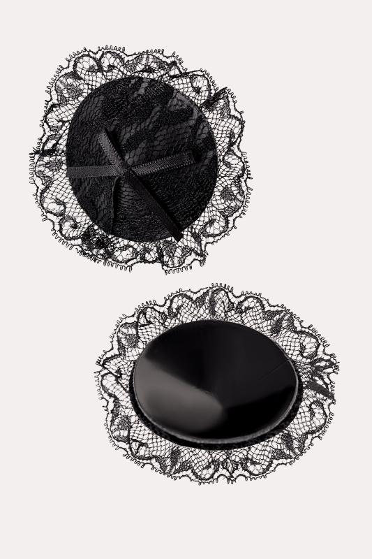Пэстис Erolanta Lingerie Collection круглые с кружевом черные