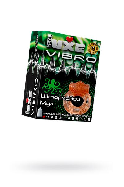 Виброкольцо LUXE VIBRO Штормовой Мул + презерватив, 1 шт