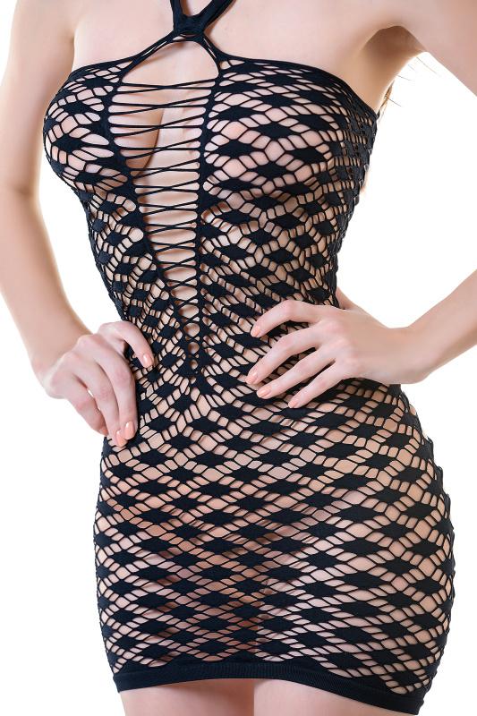 Платье-сетка Joli Makena, черный, L/XL
