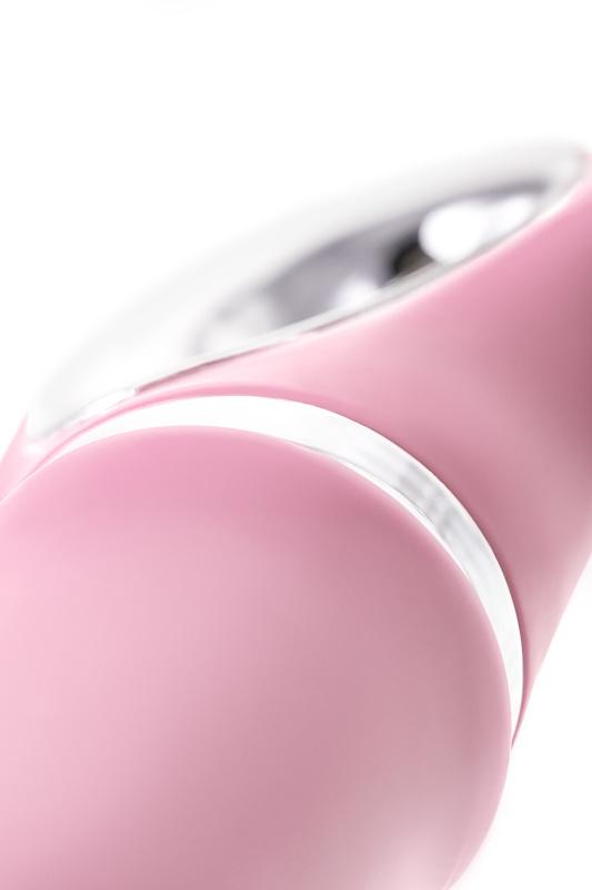 Вибратор с клиторальным стимулятором JOS JOLY LIMITED EDITION!, с WOW-режимом, силикон, розовый, 19,6 см