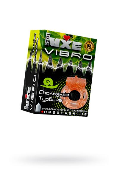 Виброкольцо LUXE VIBRO Скользкая турбина + презерватив, 1 шт