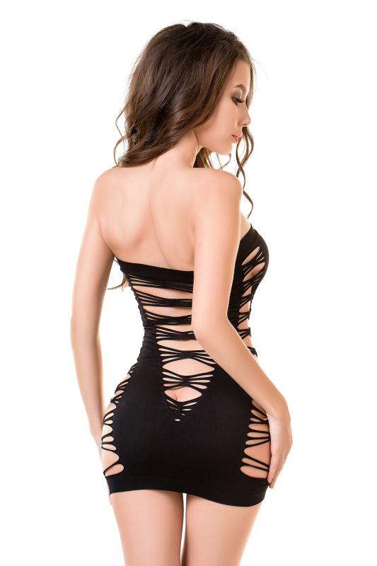 Платье-сетка Joli Playa, черная, L/XL