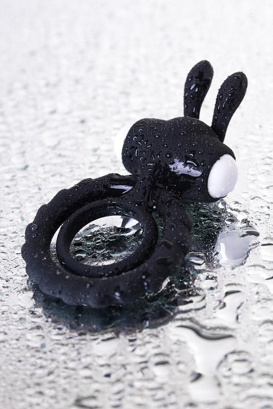 Эрекционное кольцо на пенис JOS  BAD BUNNY, Силикон, Чёрный, 9 см