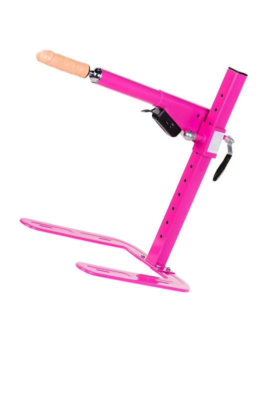 Секс-машина, Diva, Цезарь 3.0, металл, розовый, с двумя насадками, 50 см