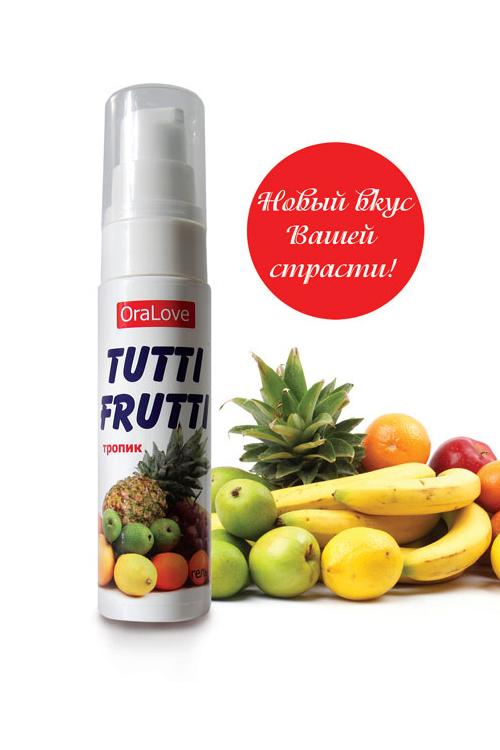 Съедобная гель-смазка TUTTI-FRUTTI для орального секса со вкусом экзотических фруктов 30г