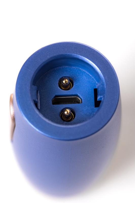 Нереалистичный вибратор Le Stelle PERKS SERIES EXC, силикон, синий, 17 см