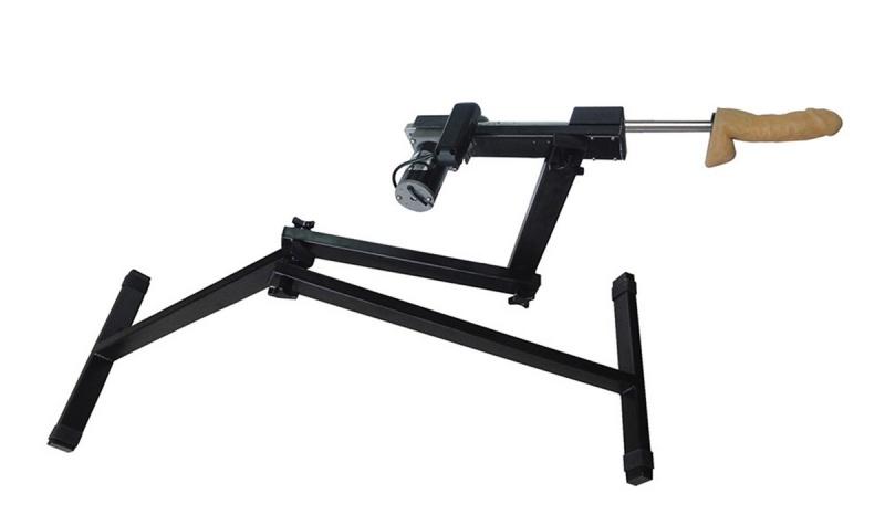 Секс-машина, Diva, Robotic, металл, черный, с двумя насадками, 120 см