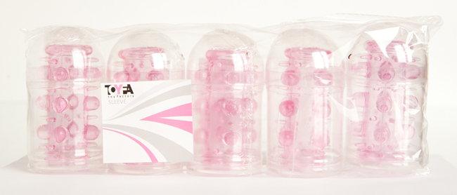 Набор насадок 5 шт TOYFA, TPE, розовый, 7 см