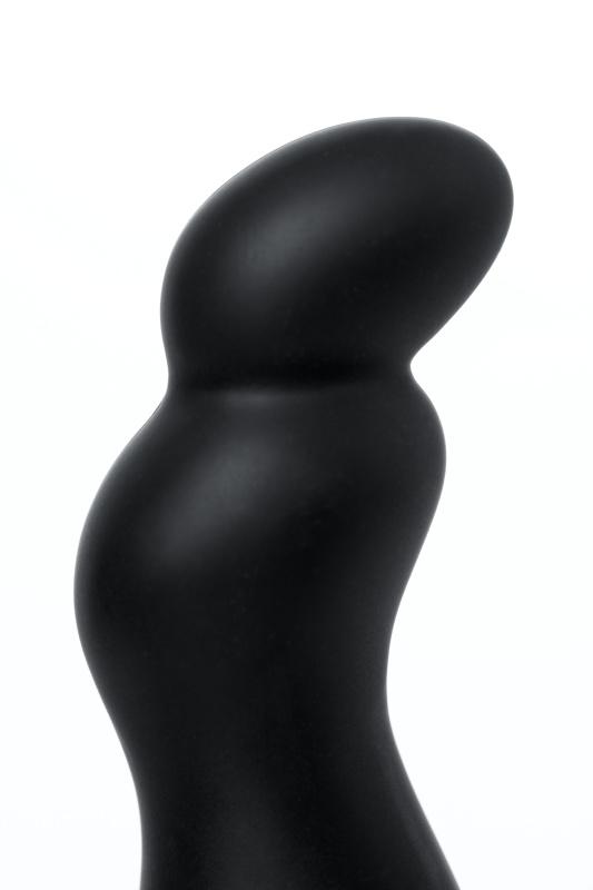 Анальная втулка Mike D-PENG  с пультом ДУ, силикон, черный, 12,3 см