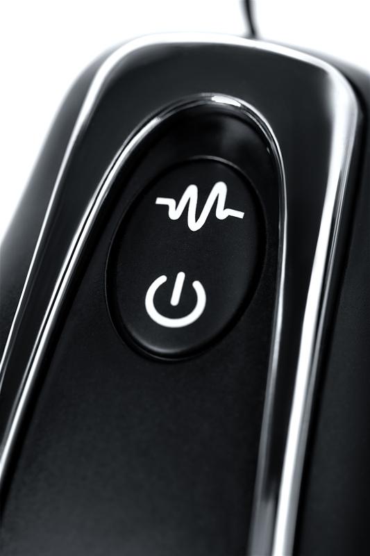 Анальная втулка Whirlwind D-PENG  с пультом ДУ, силикон, черный, 12,2 см