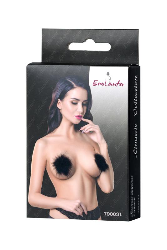 Пэстис Erolanta Lingerie Collection круглые с пухом черные