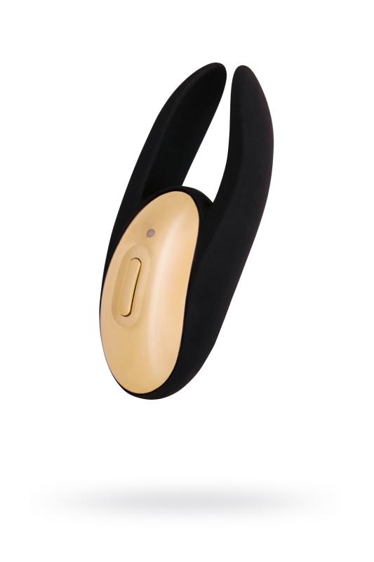 Вибратор с клиторальным стимулятором WANAME D-SPLASH  Wave Силикон Чёрный, 9,3 см.