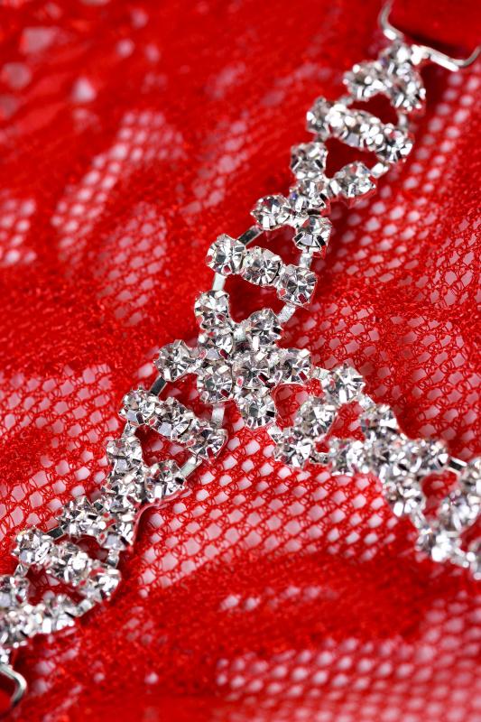 Трусики со стразами Joli Gina, красный, OS