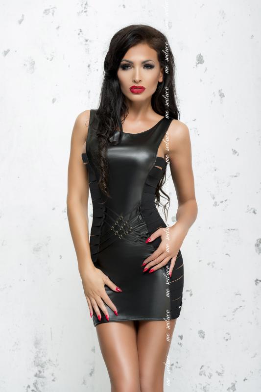 Платье Me Seduce Bond Me Lea, экокожа, черное-S/M