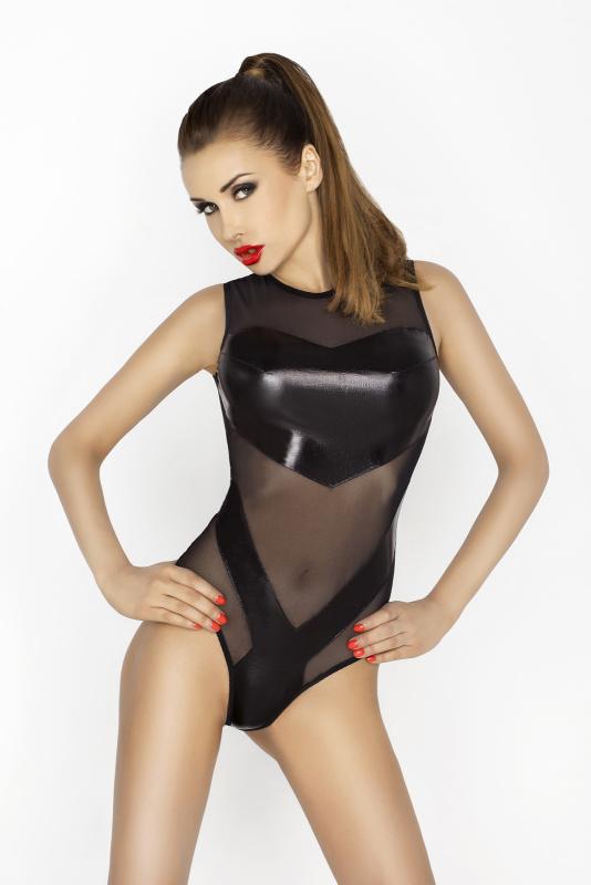 Боди Passion Erotic Line Clover, черное, S/M